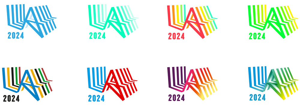 Los Angeles Olimpics 2024 - Variação de cores do logo