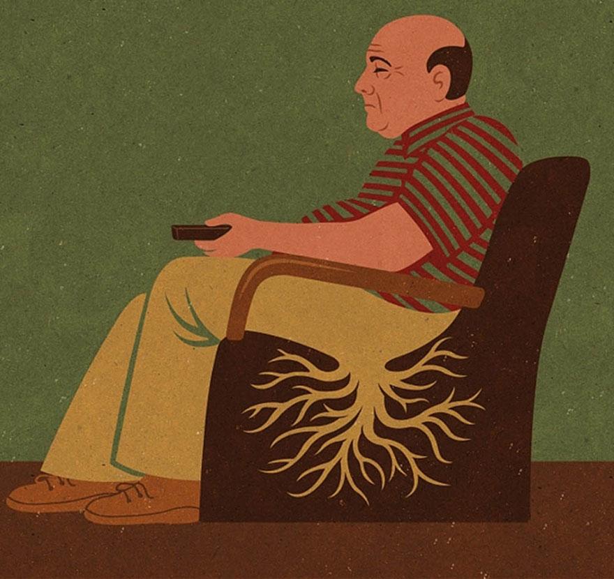 Ilustrações Satíricas dos Problemas da Atualidade - John Holcroft