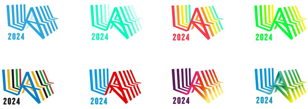Los Angeles Olimpics 2024 - Variação de cores do logo